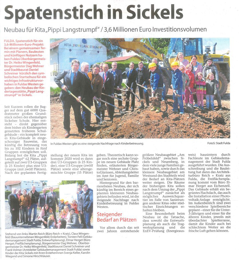 Spatenstich in Sickels