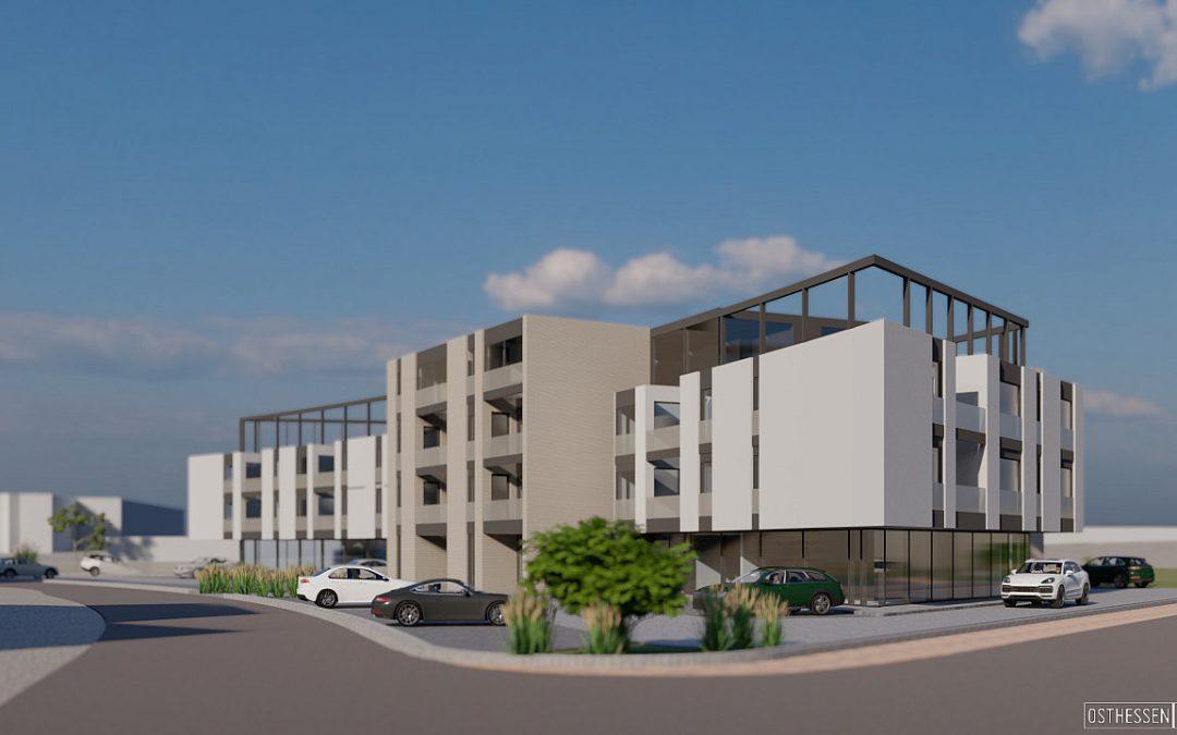 """Neues Wohn- und Geschäftshaus """"THE CURVE"""" soll im Herbst 2021 fertig sein"""