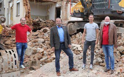 Abriss vom Gugge Haus läuft – Neues Viertel entsteht in Eichenzell