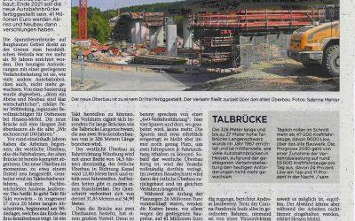 Überbau der Talbrücke Langenschwarz